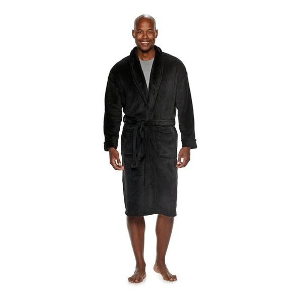 croft & barrow Other - mens Black plush Robe